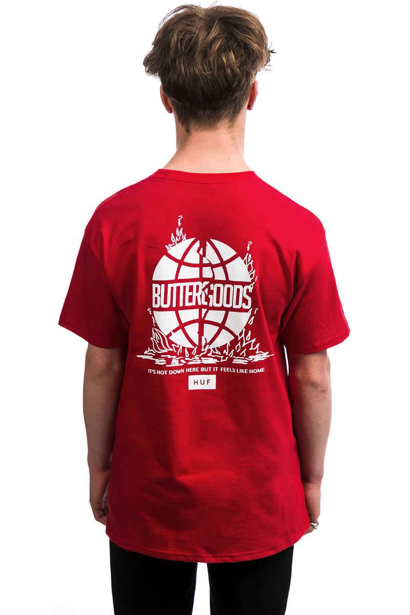 HUF x Butter Goods Feels Like Home Camiseta (red)