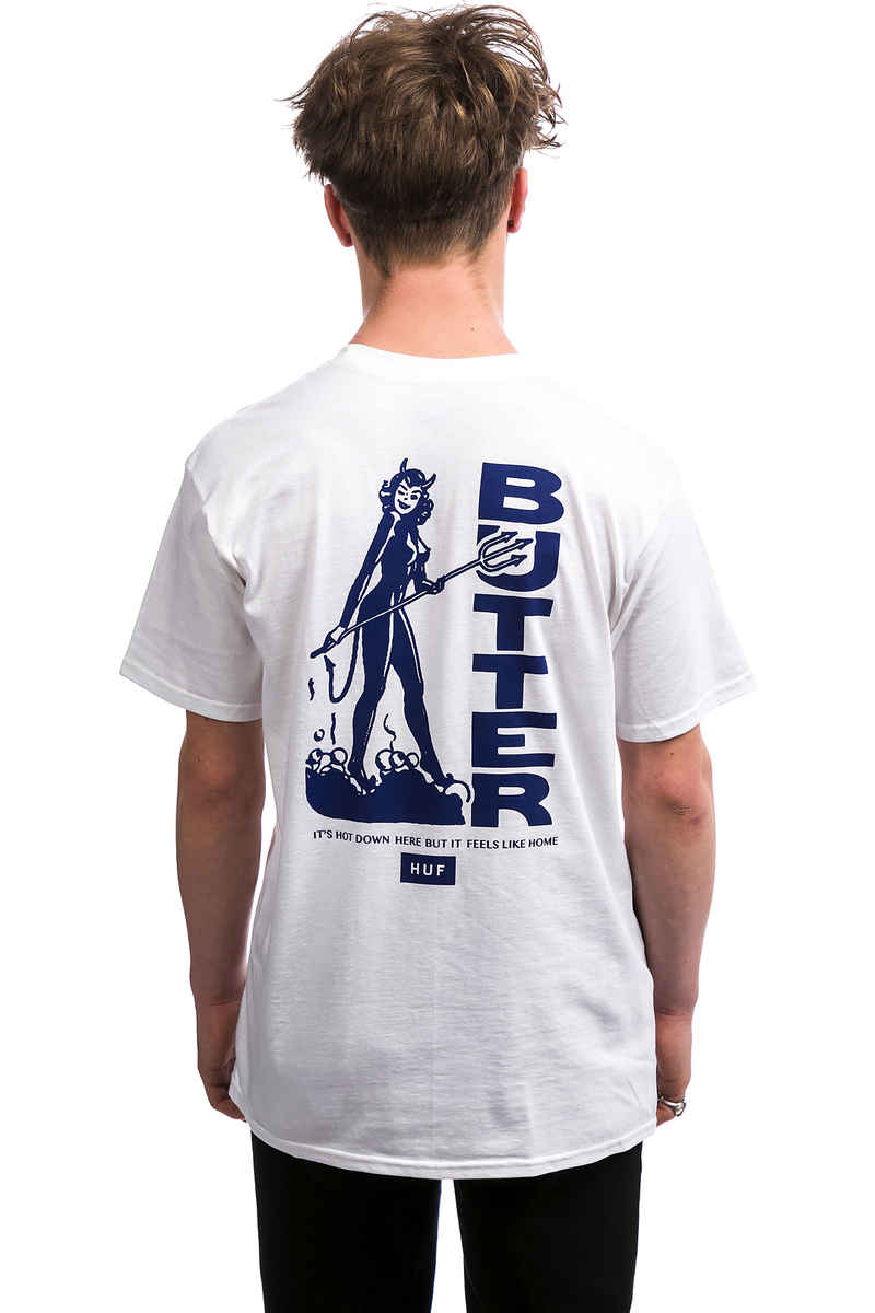 HUF x Butter Goods Devil T-Shirt (white)