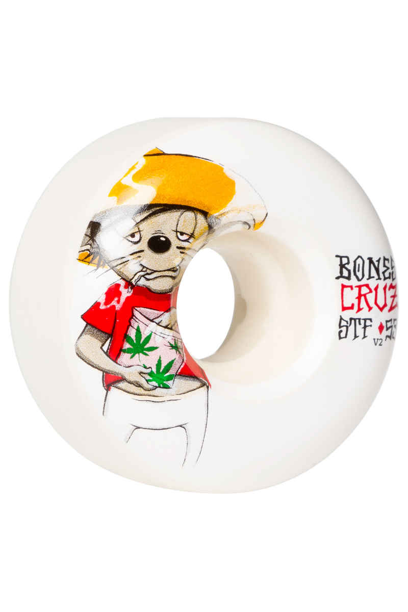 Bones STF Cruz Weedy V2 Wheels (white) 53mm 103A 4 Pack