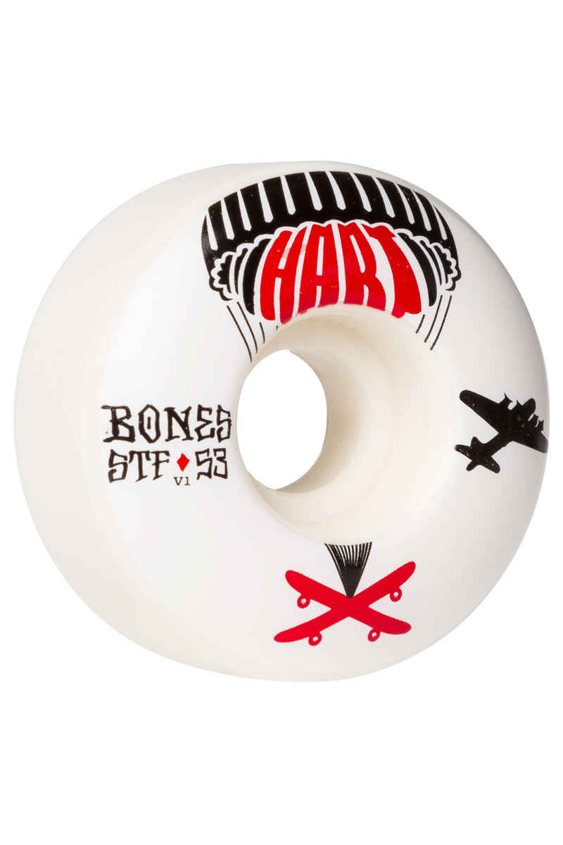 Bones STF Hart Drop Boards V1 Roue (white) 53mm 103A 4 Pack