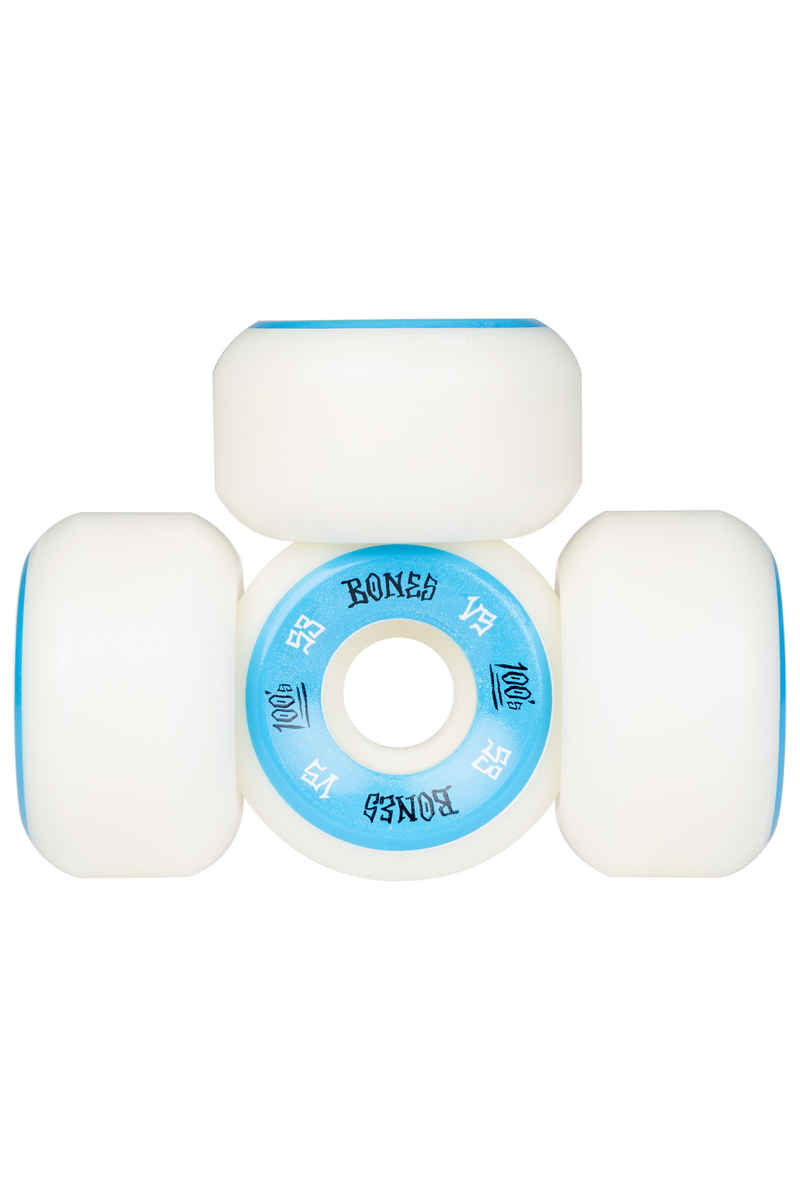 Bones 100's-OG #1 V5 Wheels (white blue) 53mm 100A 4 Pack