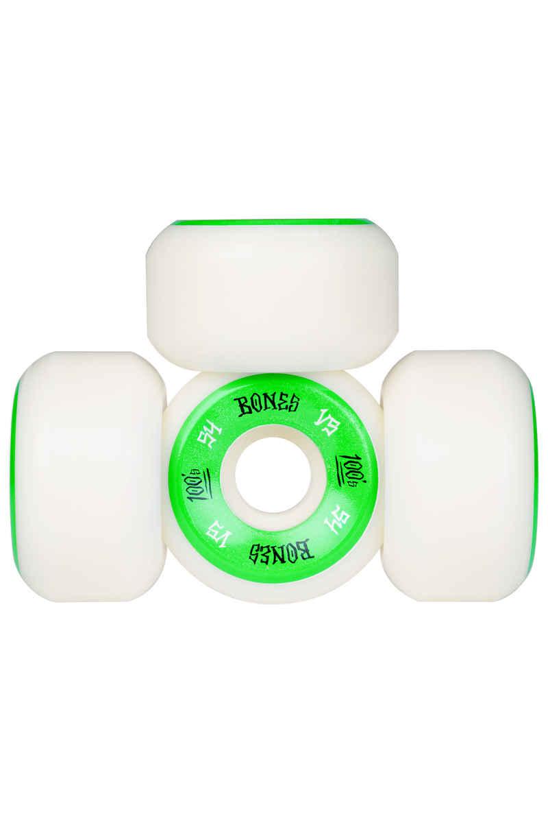 Bones 100's-OG #1 V5 Wheels (white green) 54mm 100A 4 Pack