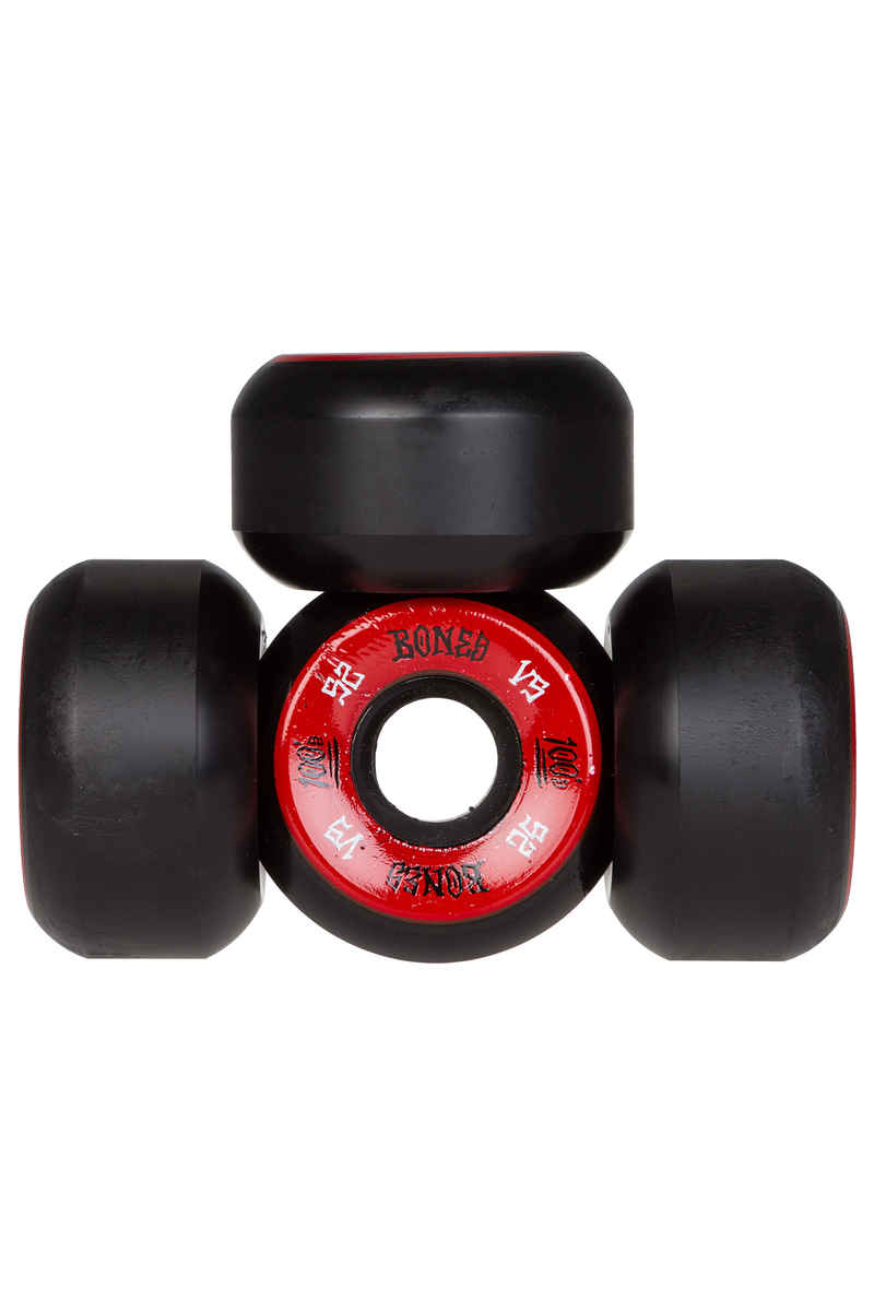 Bones 100's-OG #1 V5 Wheels (black red) 52mm 100A 4 Pack