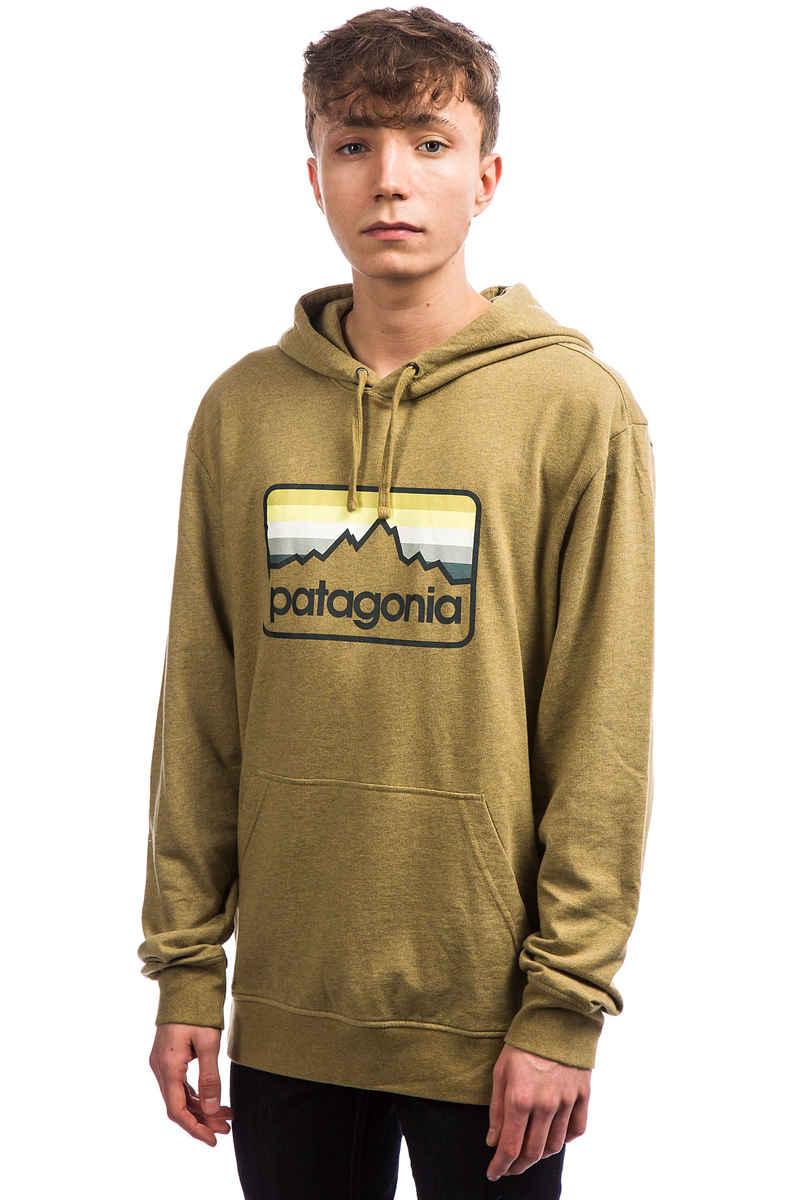 Patagonia Line Logo Badge Hoodie (coriander brown)