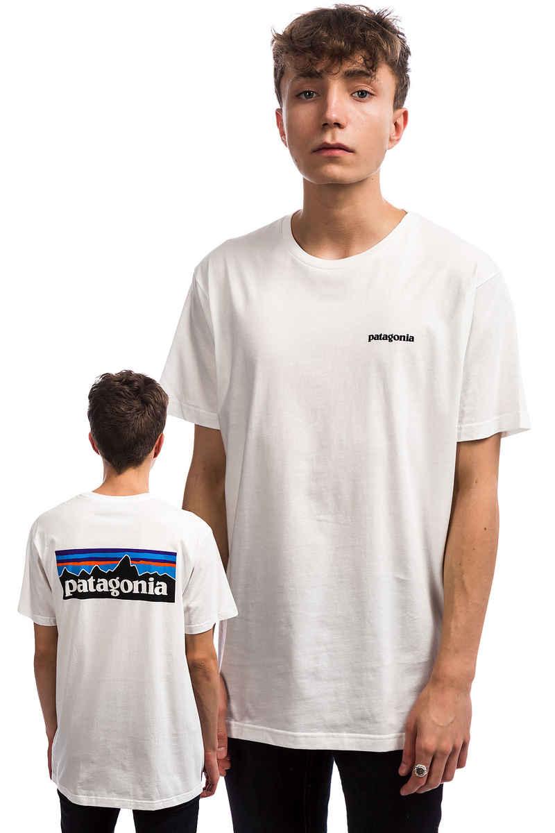 Patagonia P-6 Logo Organic T-Shirt (white)