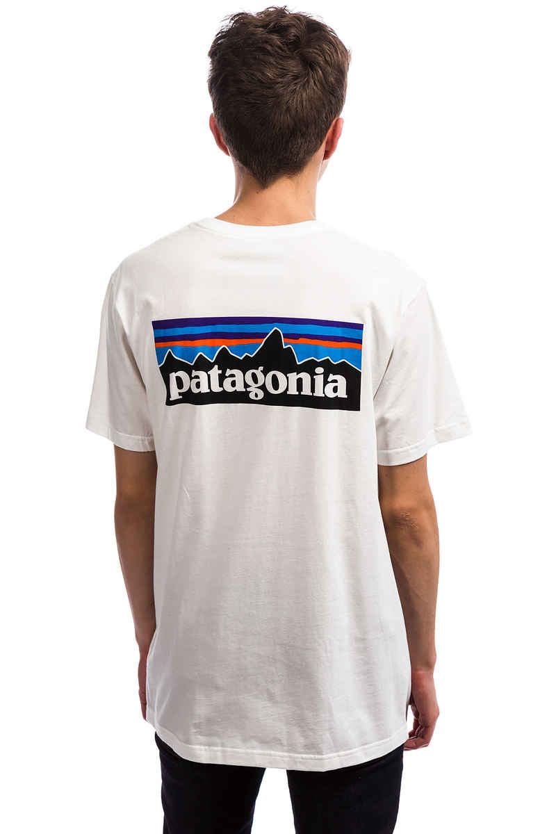 pretty nice 63427 1c63e Patagonia P-6 Logo Organic T-Shirt (white)  Mens Strider Pro ...