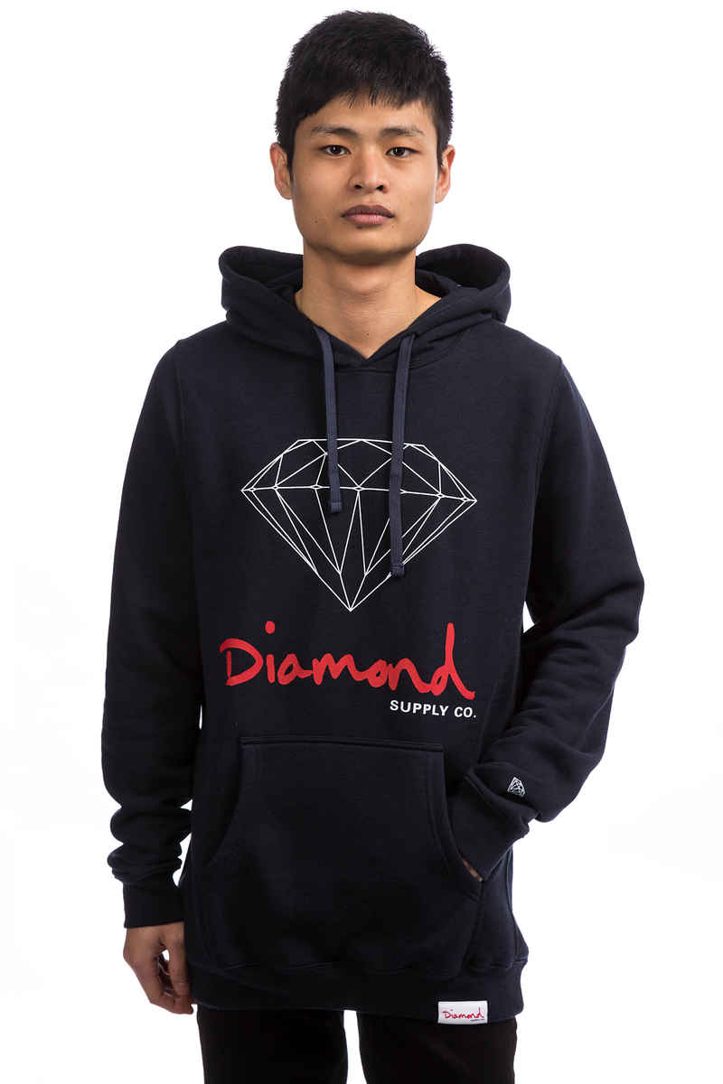 Diamond OG Sign Hoodie (navy)