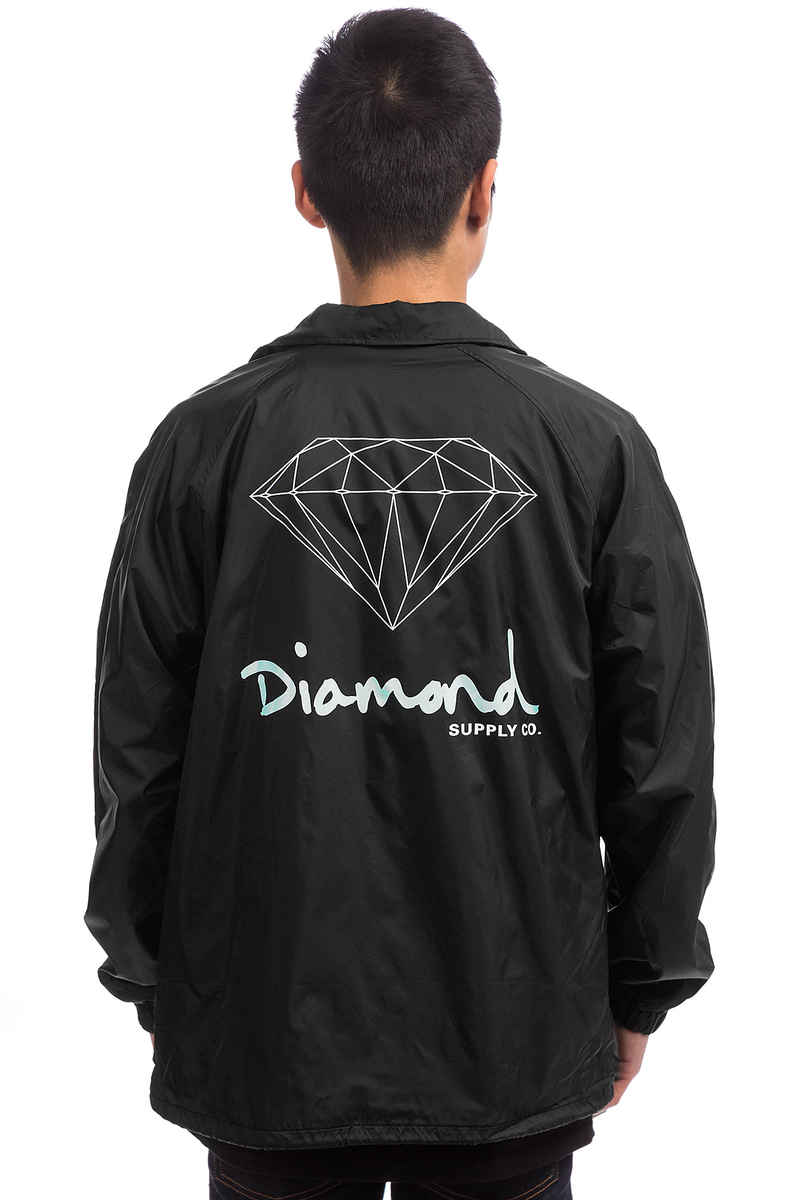 Diamond OG Sign Coach Jacket (black)