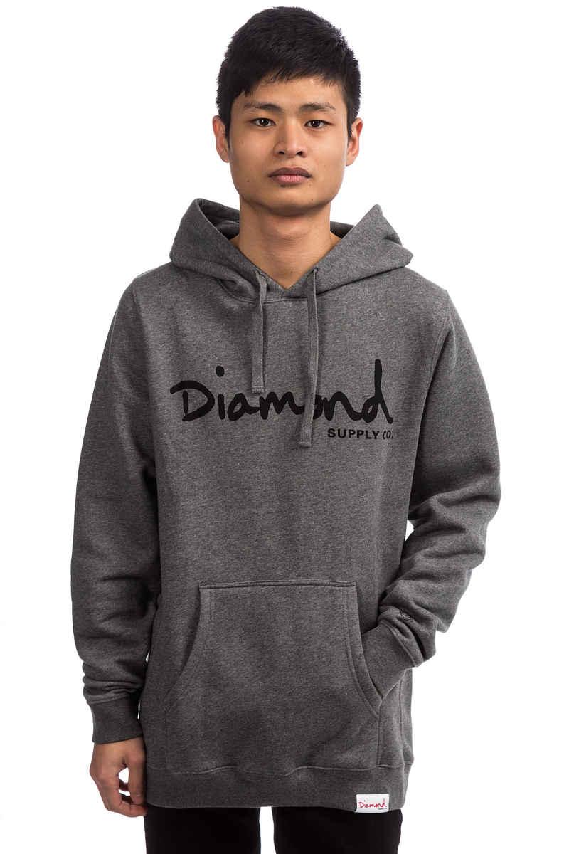 Diamond OG Script Hoodie (gunmetal heather)