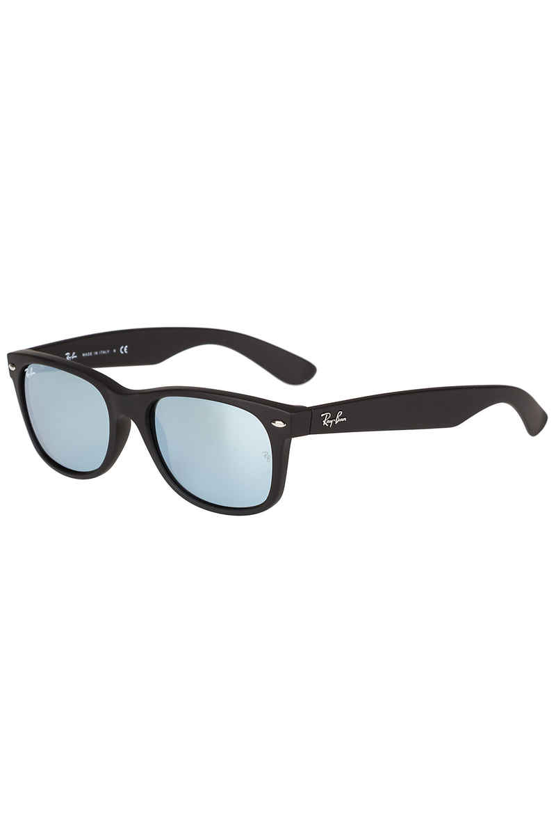 Ray-Ban New Wayfarer Sonnenbrille 55mm (rubber black mirror silver)