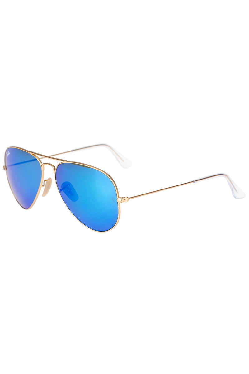 Ray-Ban Aviator Large Metal Sonnenbrille 58mm (matte gold mirror multi blue)