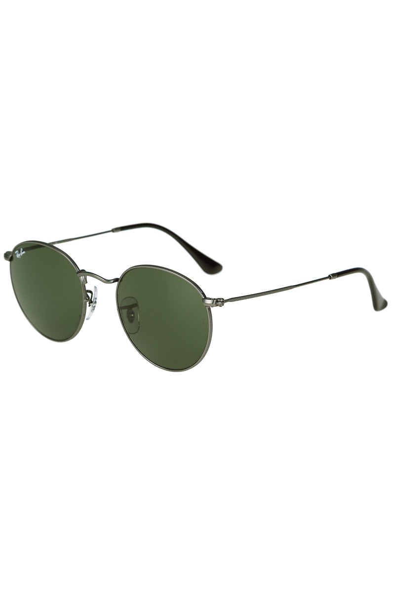 Ray-Ban Round Metal Sonnenbrille 50mm (matte gunmetal green)