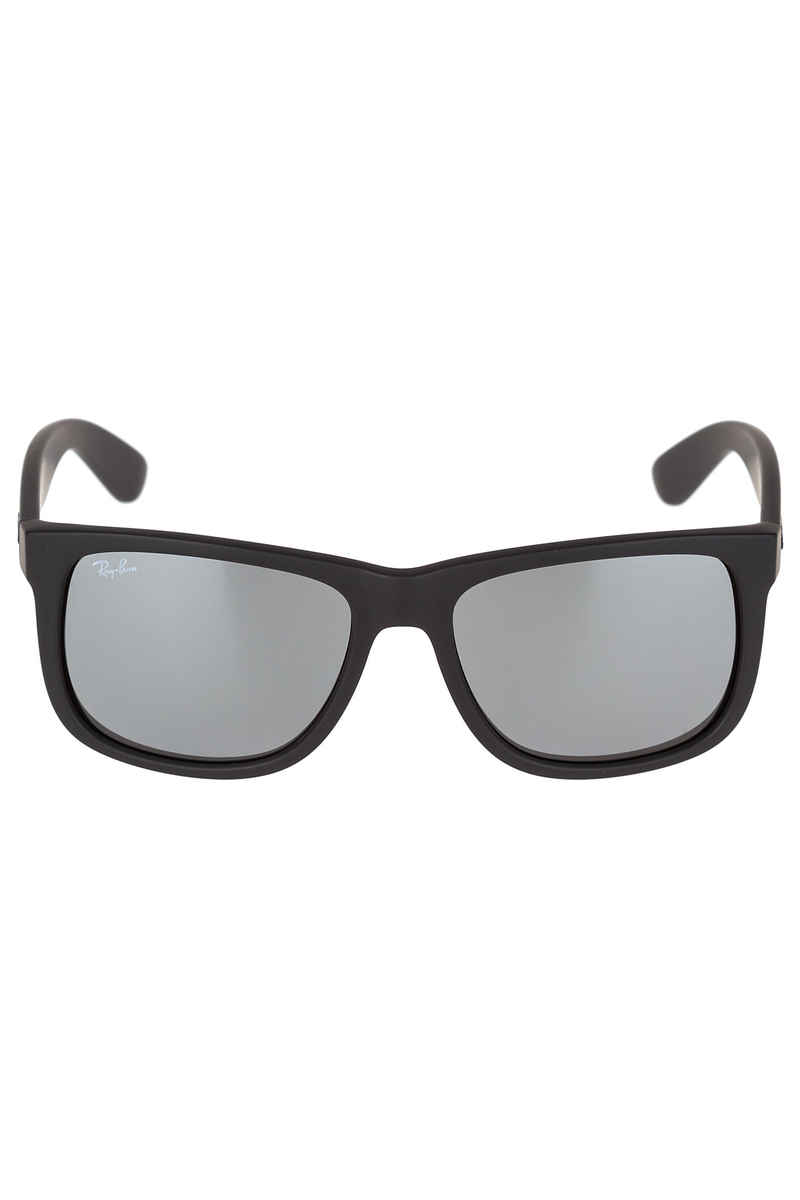 Ray-Ban Justin Sonnenbrille 54mm (rubber black grey mirror silver)