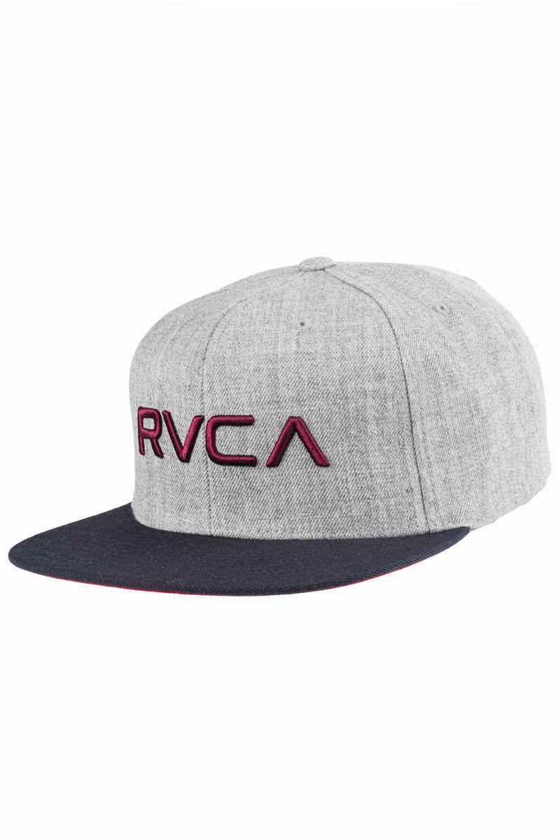 RVCA Twill III Snapback Pet (heather grey blue)