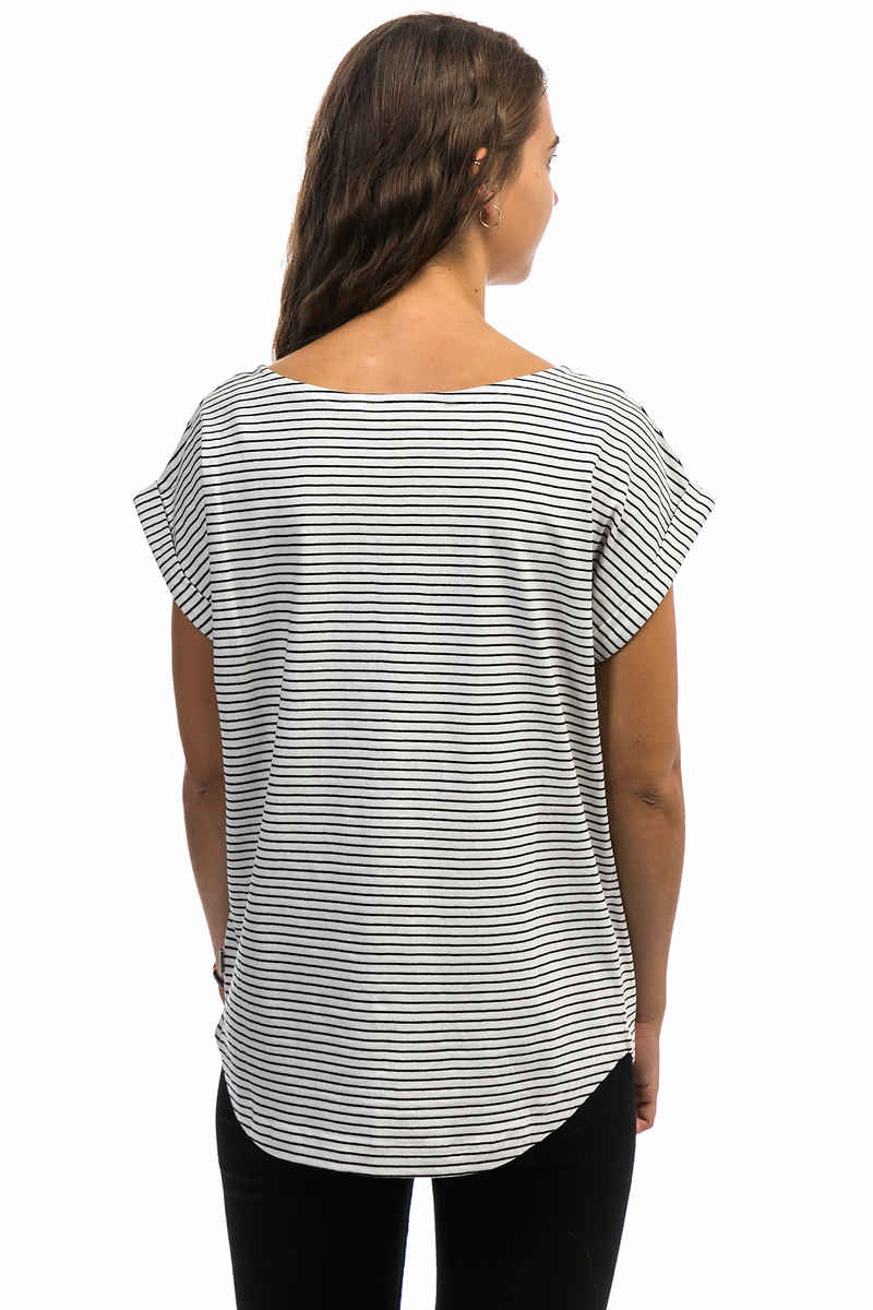 Wemoto Bell Stripe T-Shirt women (off white black)