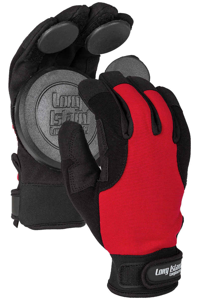 Long Island Curly Slide Handschuhe (black red)
