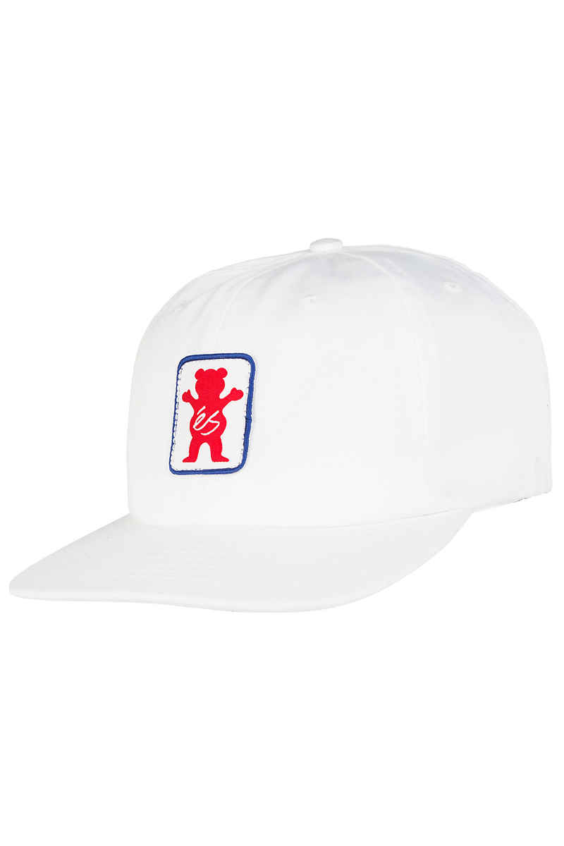 éS x Grizzly Deuce 6 Panel Cap (white)