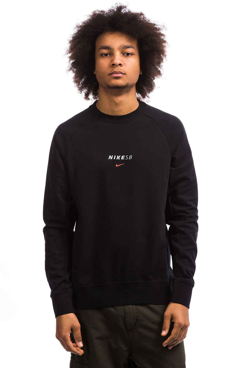 Nike SB Dry Everett Sweatshirt (black solar red)