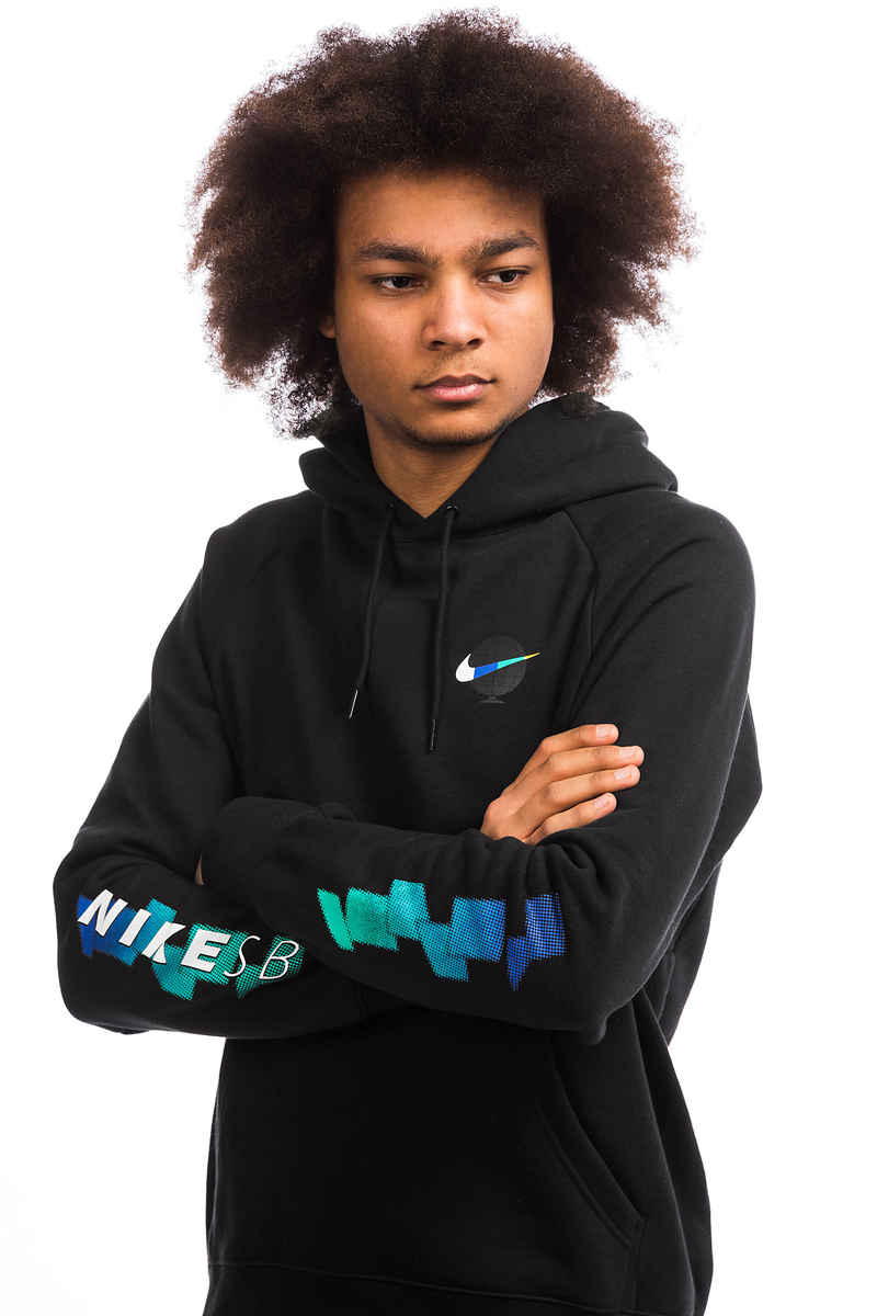Nike SB Icon GFX sweat à capuche (black black white)