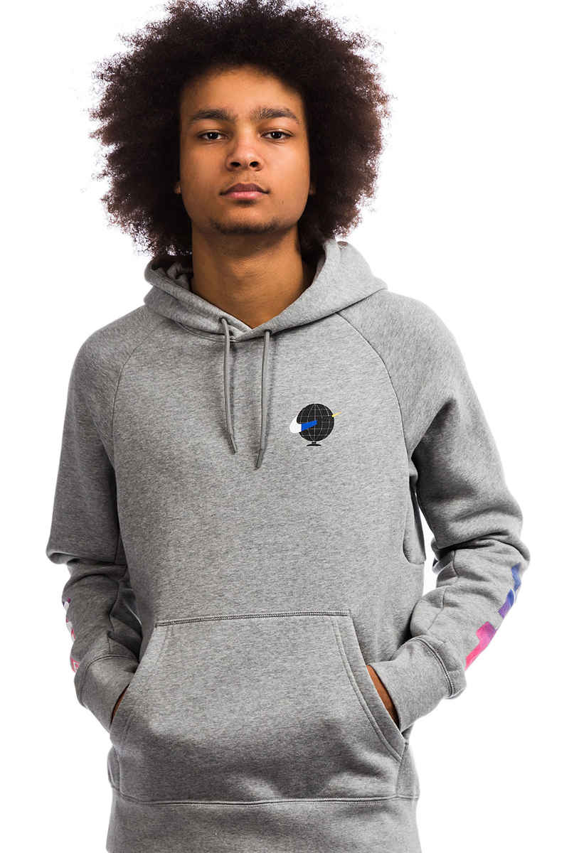 Nike SB Icon GFX Sudadera (dark grey heather white)