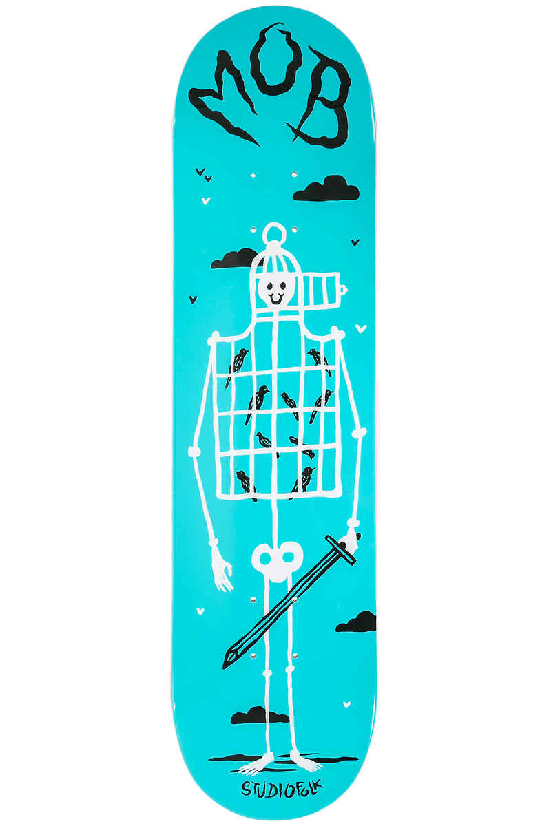 "MOB Skateboards Skeleton 8"" Planche Skate (blue)"