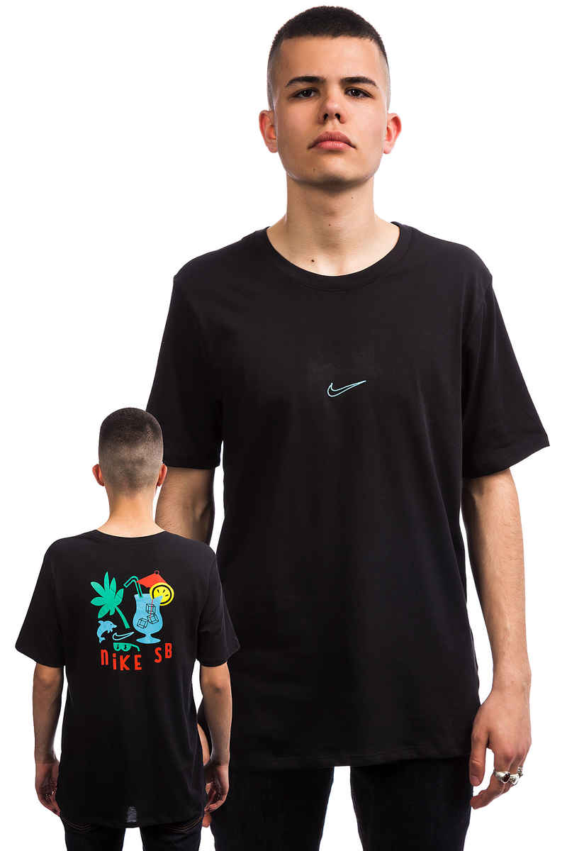 Nike SB Dry DFC Tropical Camiseta (black lagoon pulse)