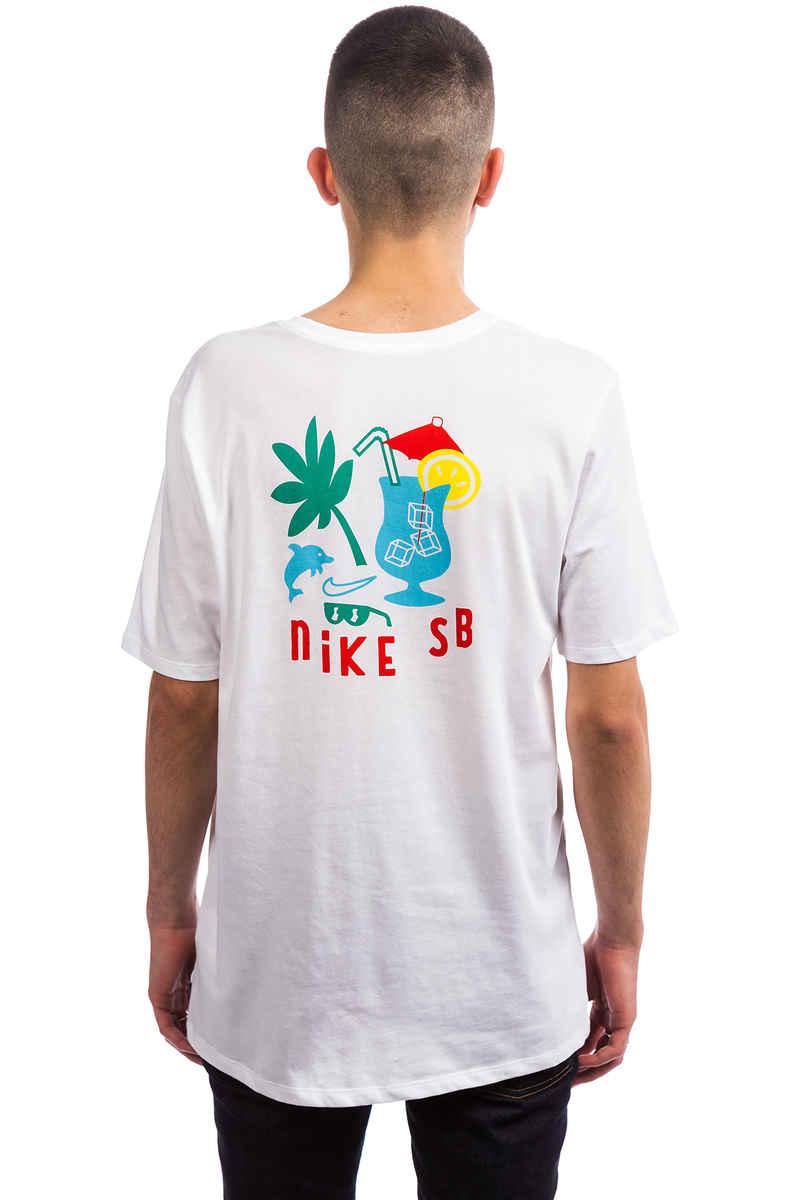 Nike SB Dry DFC Tropical T-Shirt (white lagoon pulse)