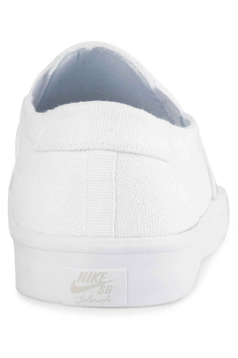 Nike SB Portmore II Solarsoft Slip Shoes (white white)