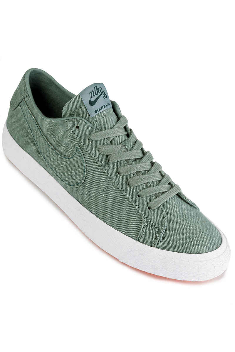 Nike SB Zoom Blazer Low Canvas Deconstructed Shoes (clay green)