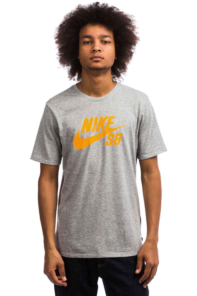 Nike SB Logo T-Shirt (dark grey heather laser orange)