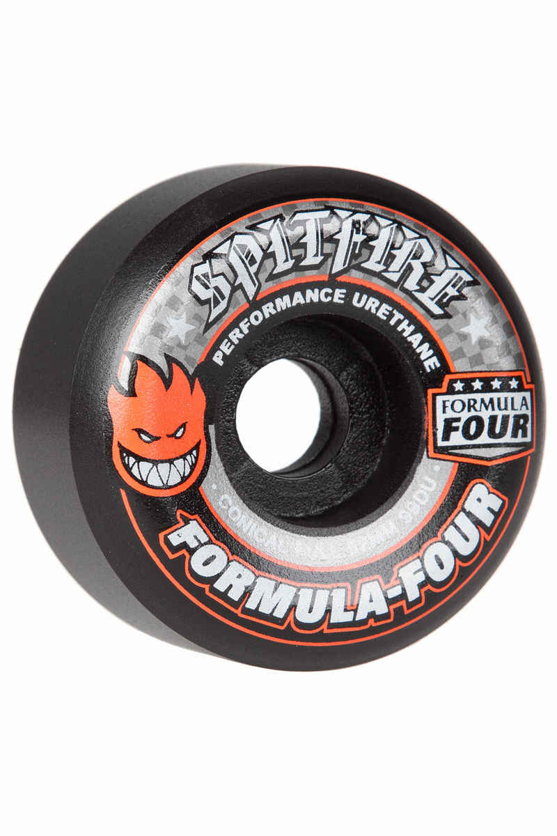 Spitfire Formula Four Conical Full Wheels (black) 52mm 99A 4 Pack