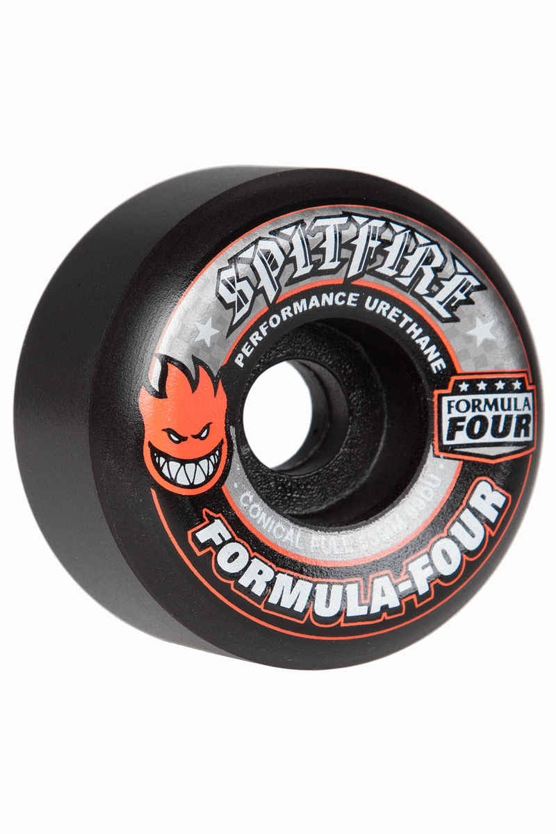Spitfire Formula Four Conical Full Wiel (black) 53mm 99A 4 Pack