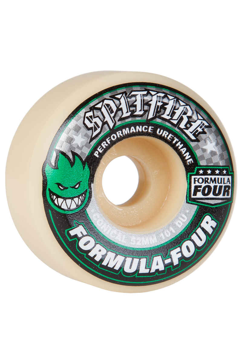 Spitfire Formula Four Conical Roue (white green) 52mm 101A 4 Pack
