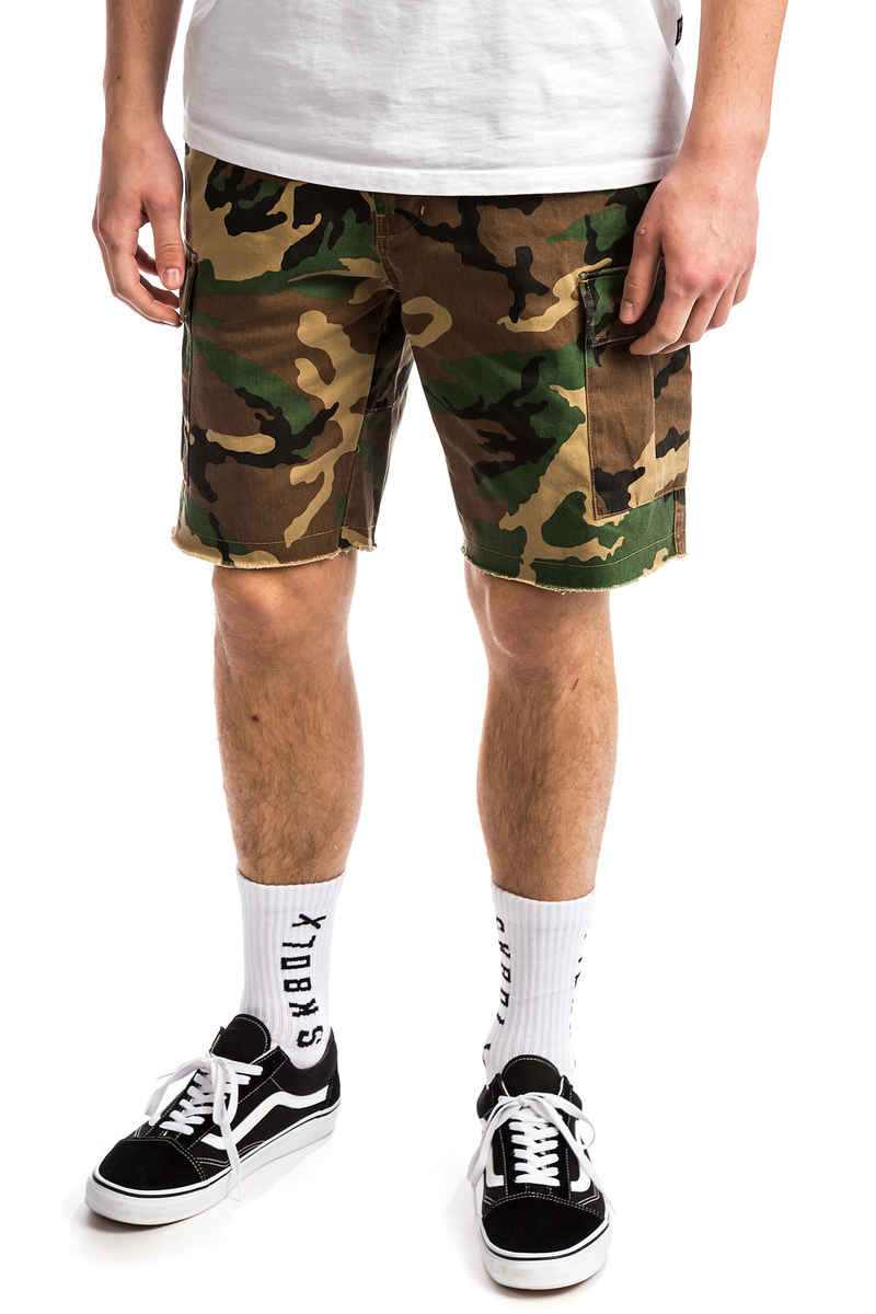 HUF Standard Issue Cargo Shorts (woodland camo)