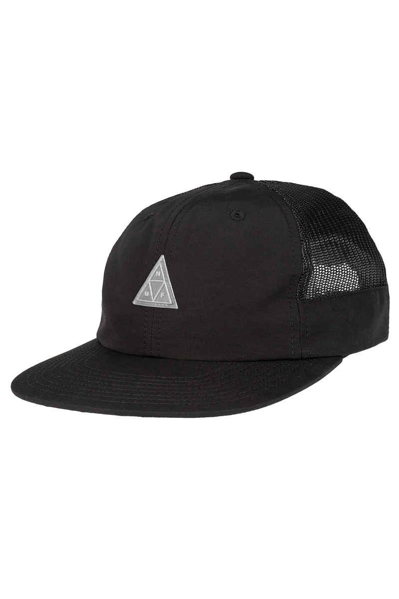 HUF Triple Triangle Side Mesh 6 Panel Gorra (black)