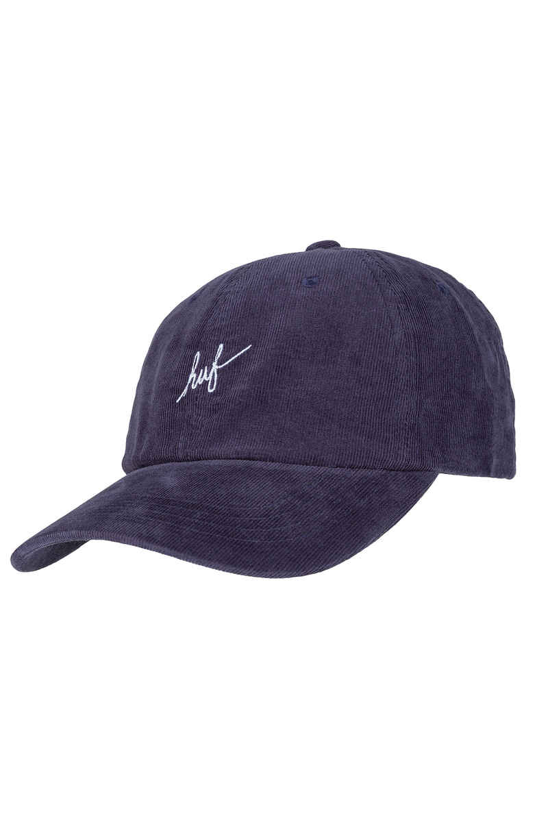 HUF Corduroy Script Curved Visor Casquette (midnight)