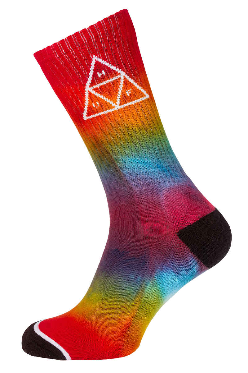 huf tie dye triple triangle socken us 8 12 rainbow kaufen bei skatedeluxe. Black Bedroom Furniture Sets. Home Design Ideas