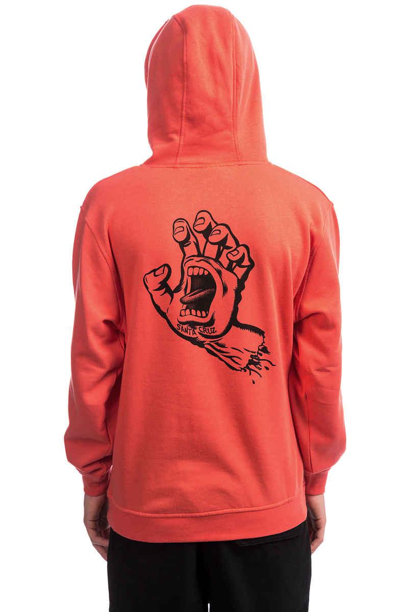 Santa Cruz Outline Hand Hoodie (coral)