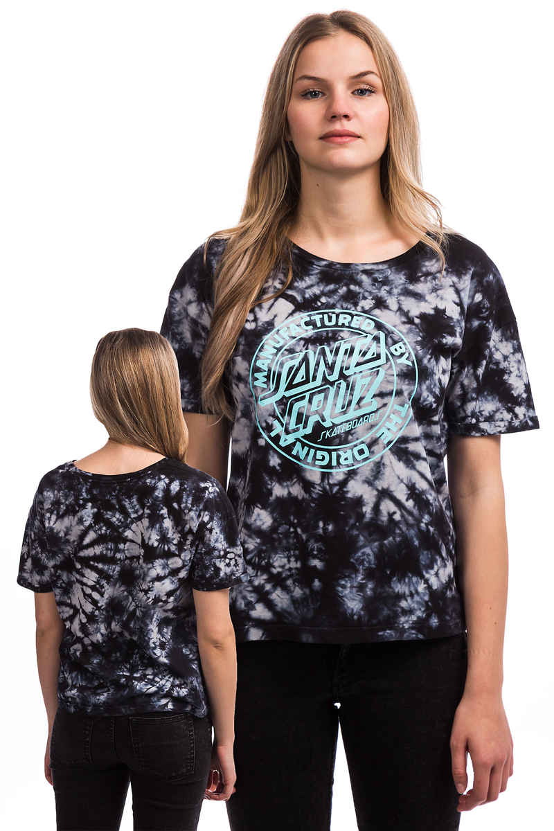 Santa Cruz MFG Dot T-Shirt women (black tie dye)