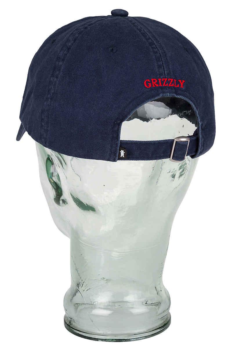 Grizzly OG Bear Logo Dad Cap (navy red)