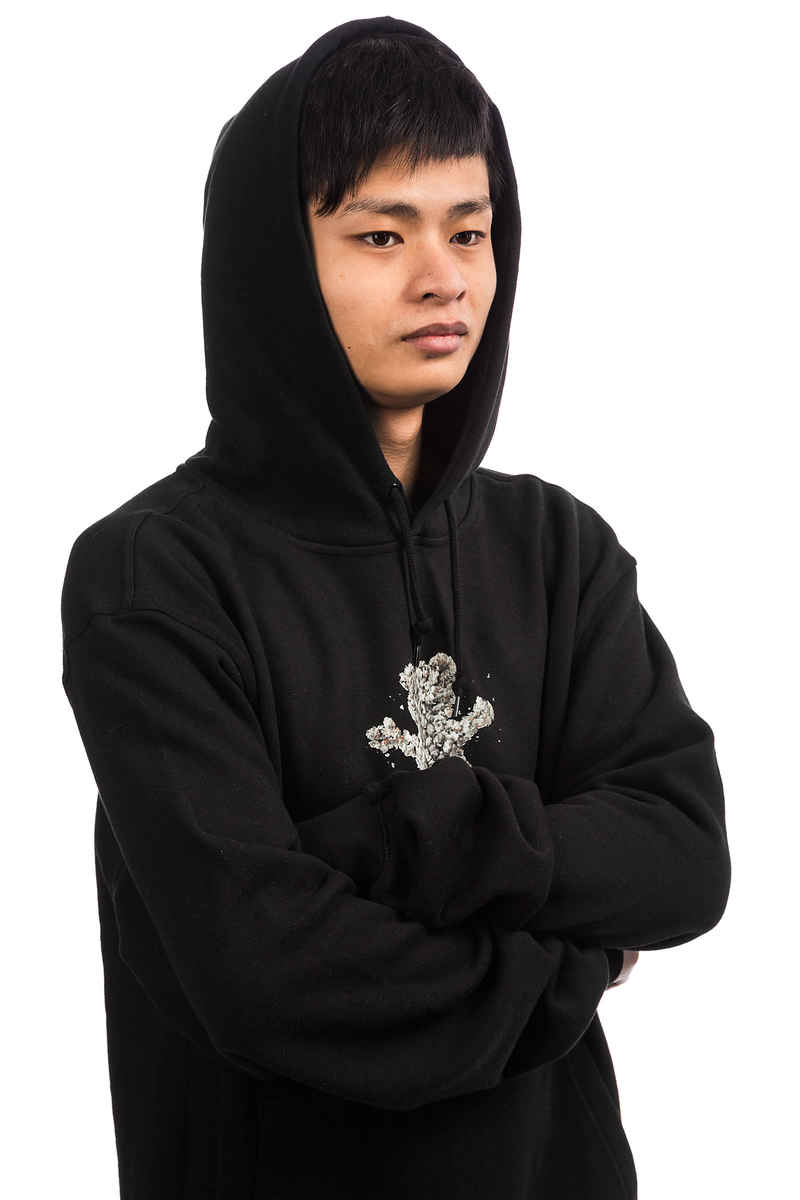 Grizzly Roll Up Bear Hoodie (black)