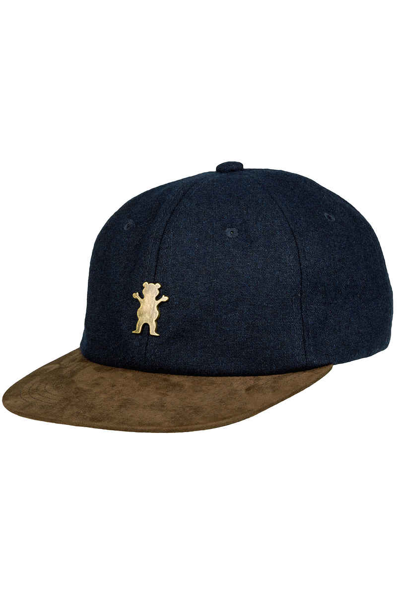 Grizzly Antique OG Bear Strapback Cap (navy brown)