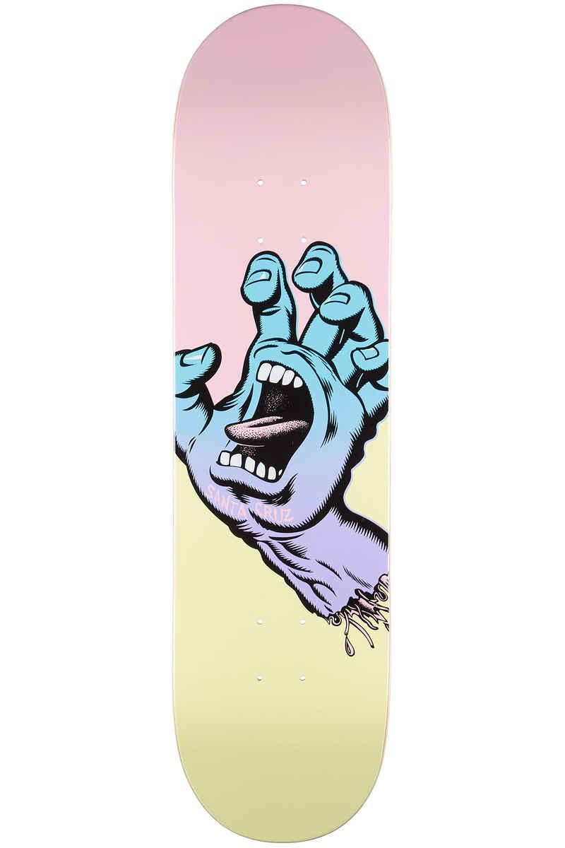 """Santa Cruz Pastel Screaming Hand 8.25"""" Deck (multi)"""