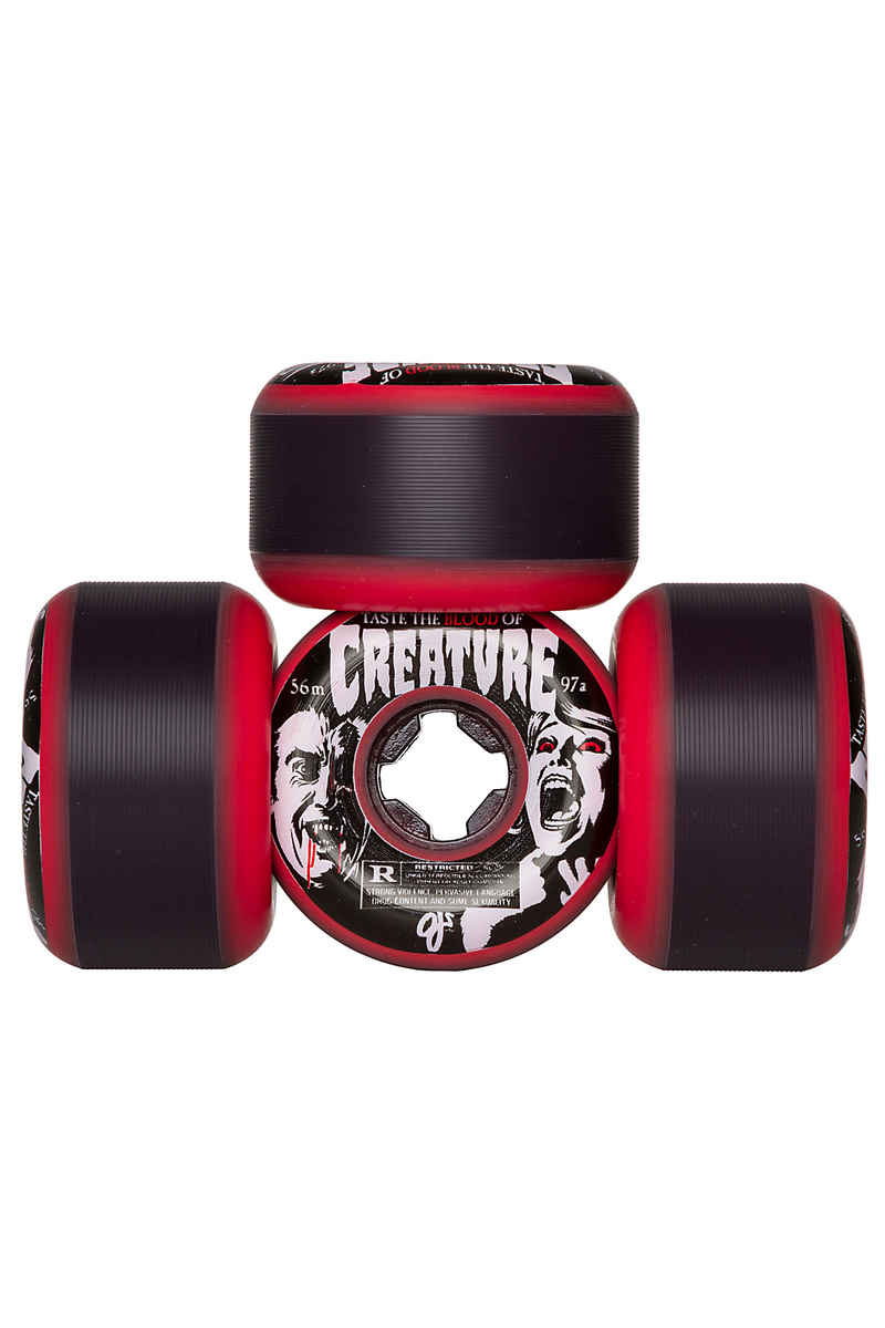 OJ Wheels x Creature Bloodsuckers Rollen (red) 56mm 97A 4er Pack