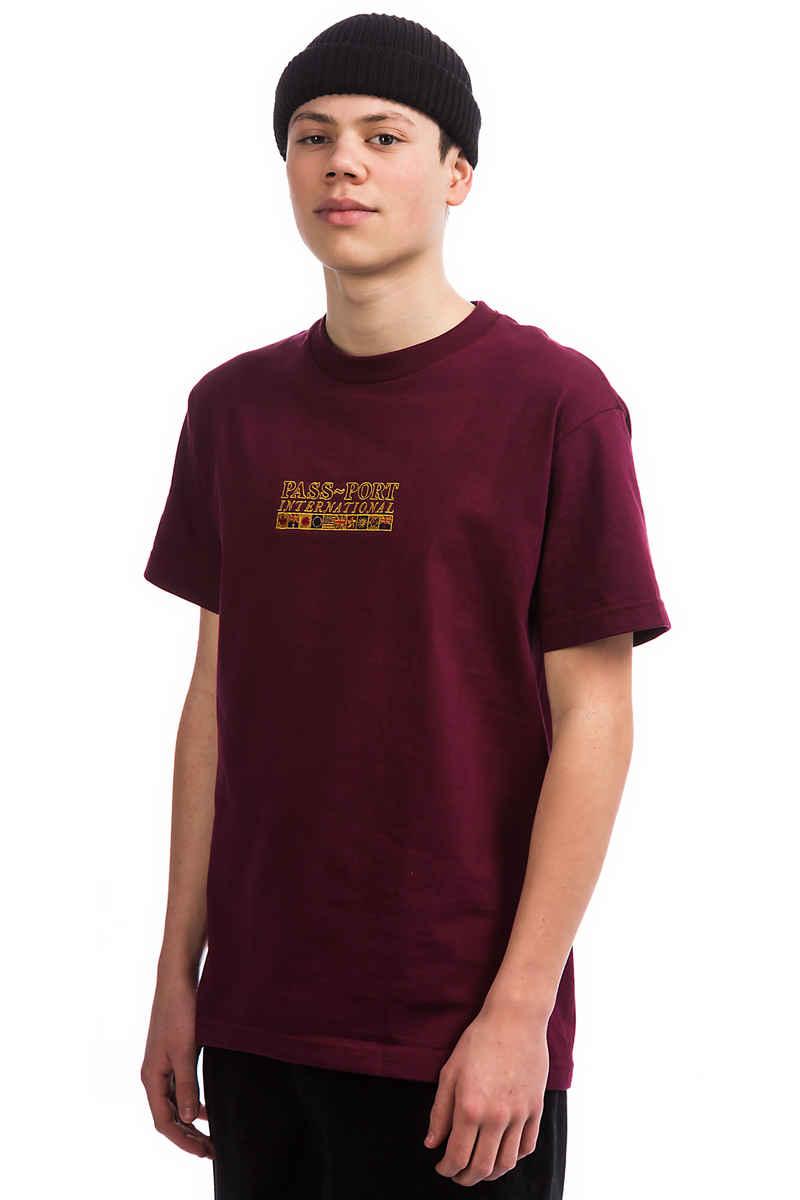 Passport International Emb T-Shirt (burgundy)