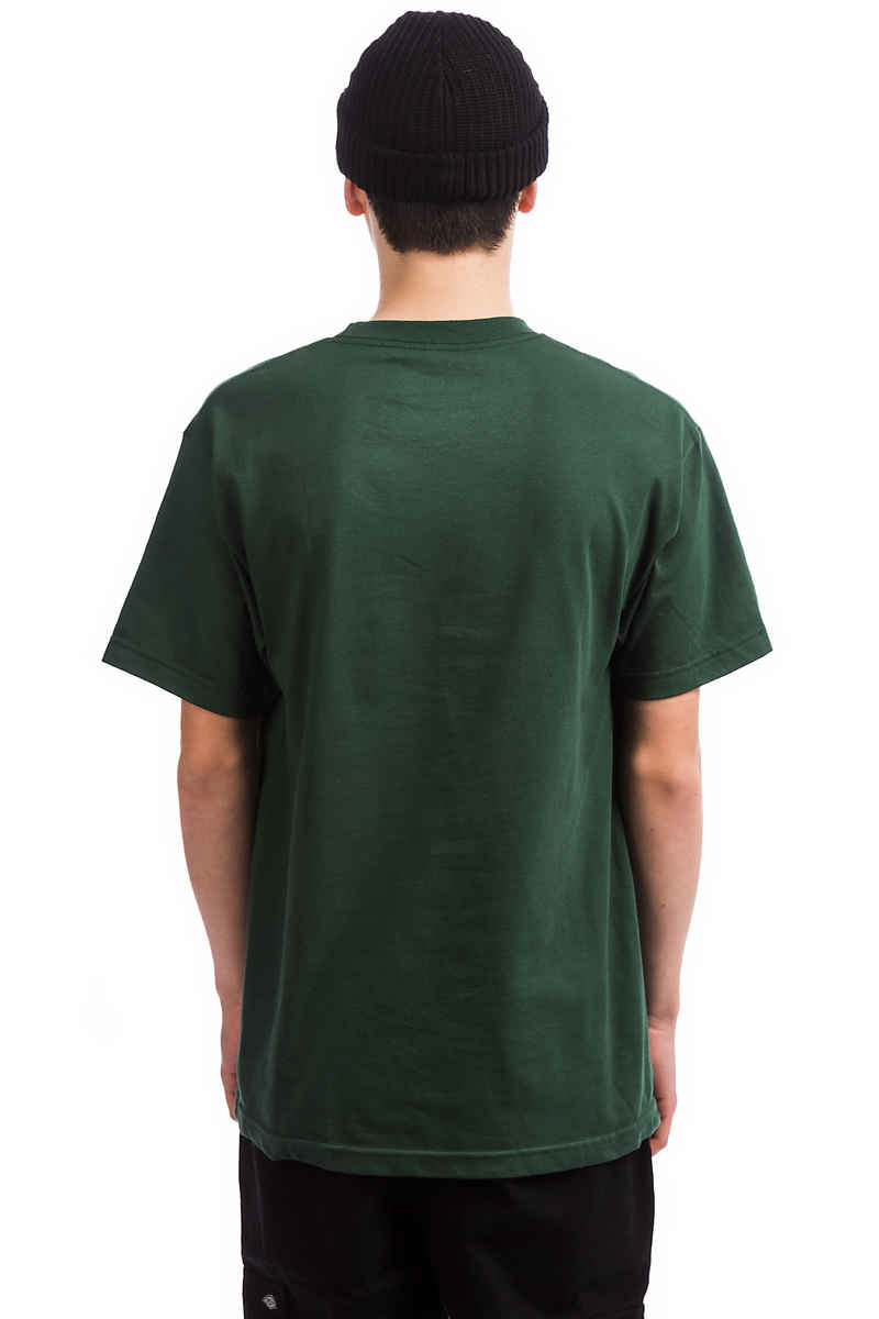 Passport Official Repeat Emb Camiseta (forest green)