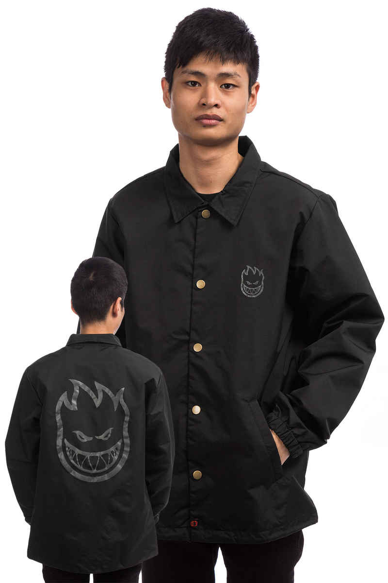 Spitfire Bighead Double Coach Jacket (black grey)