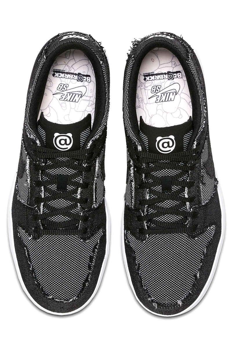 Nike SB x Medicom Toy Dunk Low Elite QS Shoes (black white medium grey)