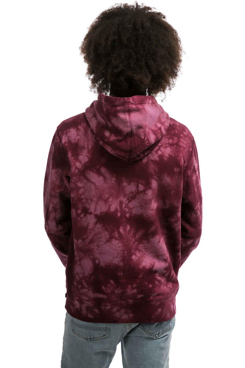 HUF Leary Tie Dye Hoodie (burgundy)