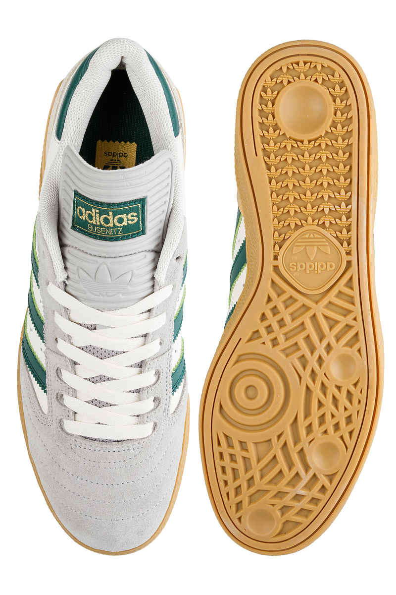 adidas Skateboarding Busenitz Shoes (grey collegiate green gum)